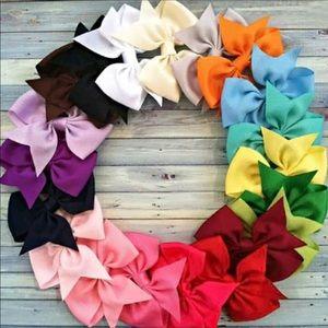 ⬇️ Baby Girl Bows Hair Clip Grosgrain Ribbon